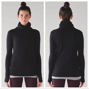 Lululemon Sweat & Savasana Black Wool Sweater